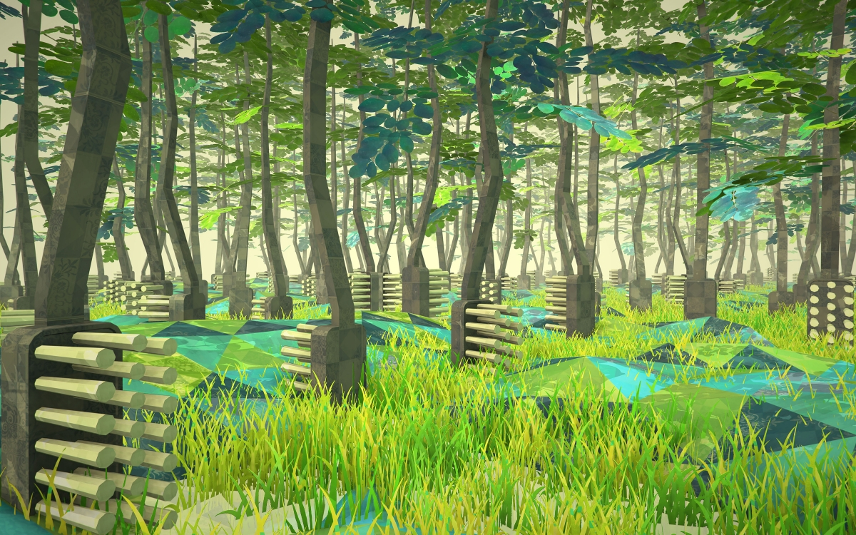 Toothbrush forest