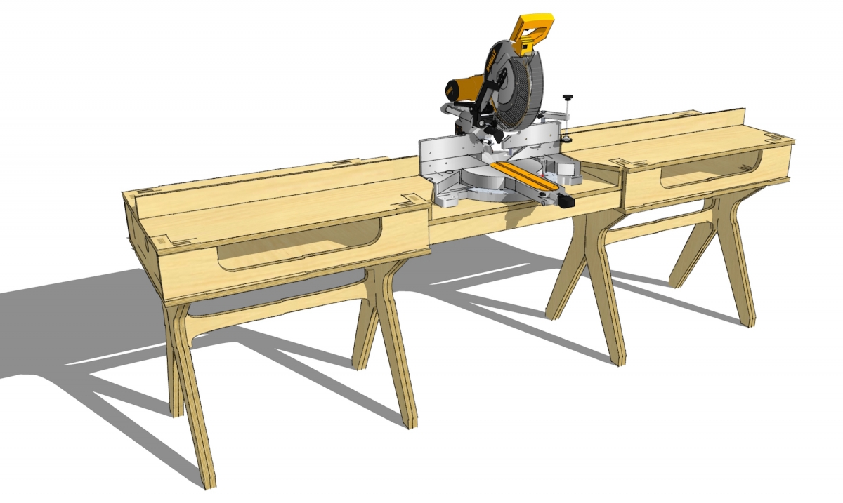 Miter saw maker bench