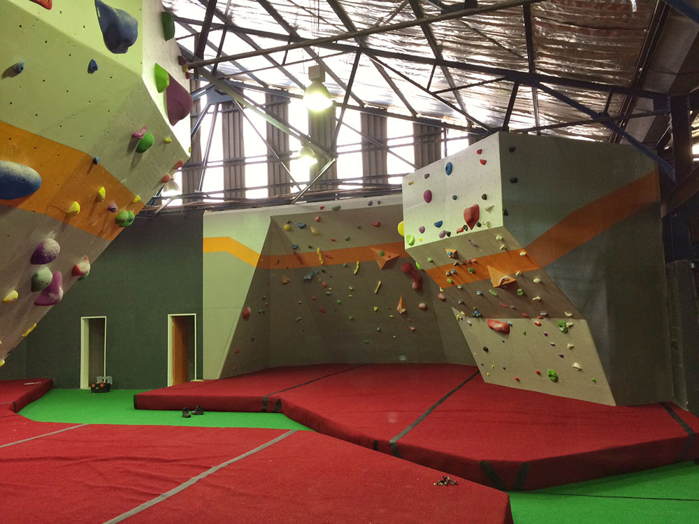 The climbing gym, made into reality