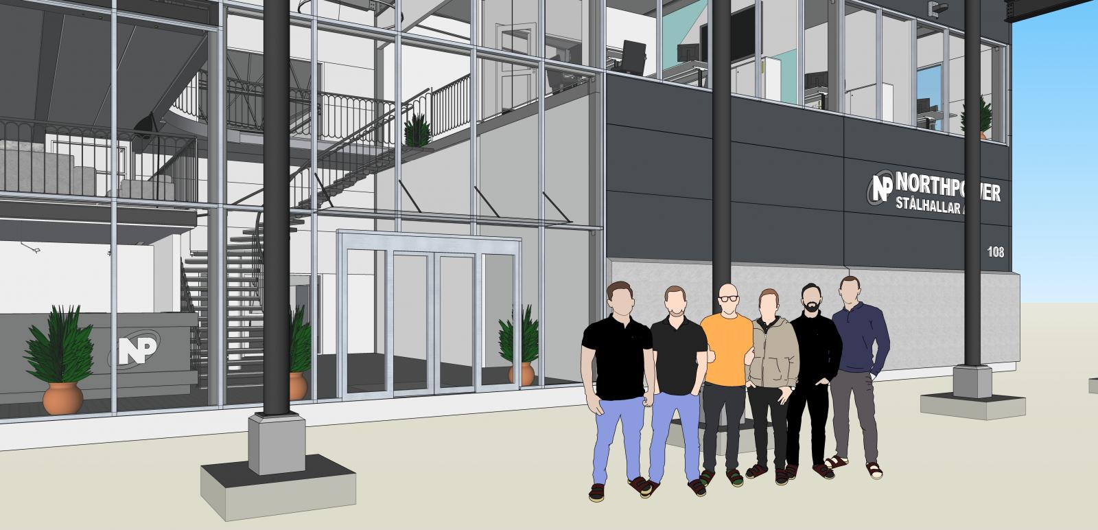 The Northpower Stålhallar team in SketchUp