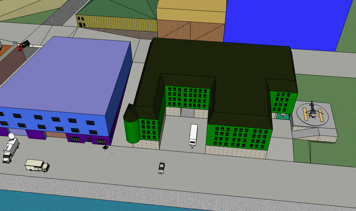 Christina Eneroth's first model in SketchUp