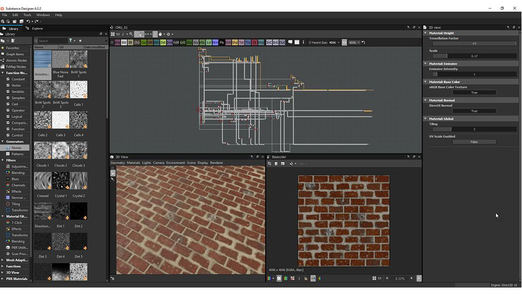 Screen of Substance Designer