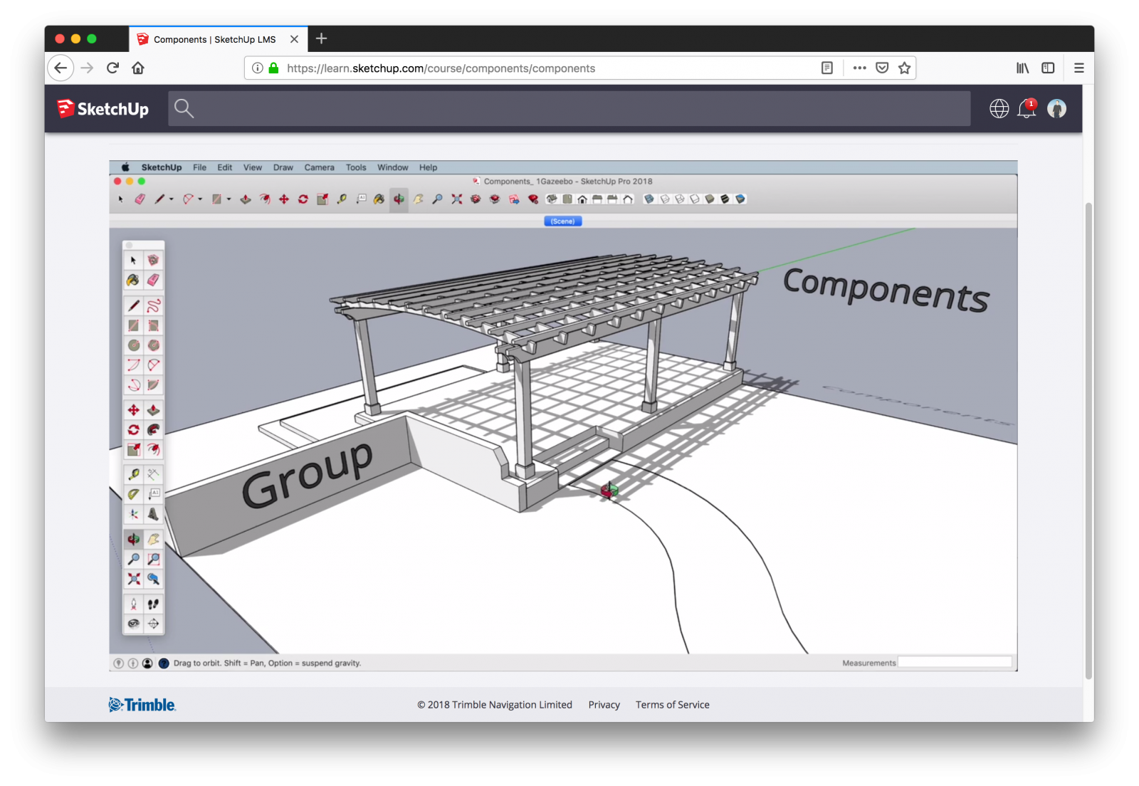 Learning components in SketchUp Campus