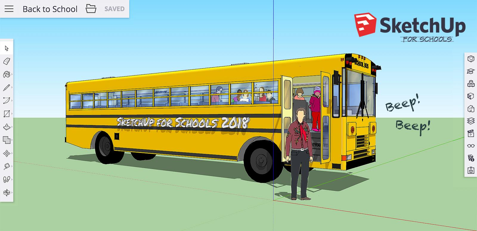 SketchUp for Schools back-to-school bus 2018
