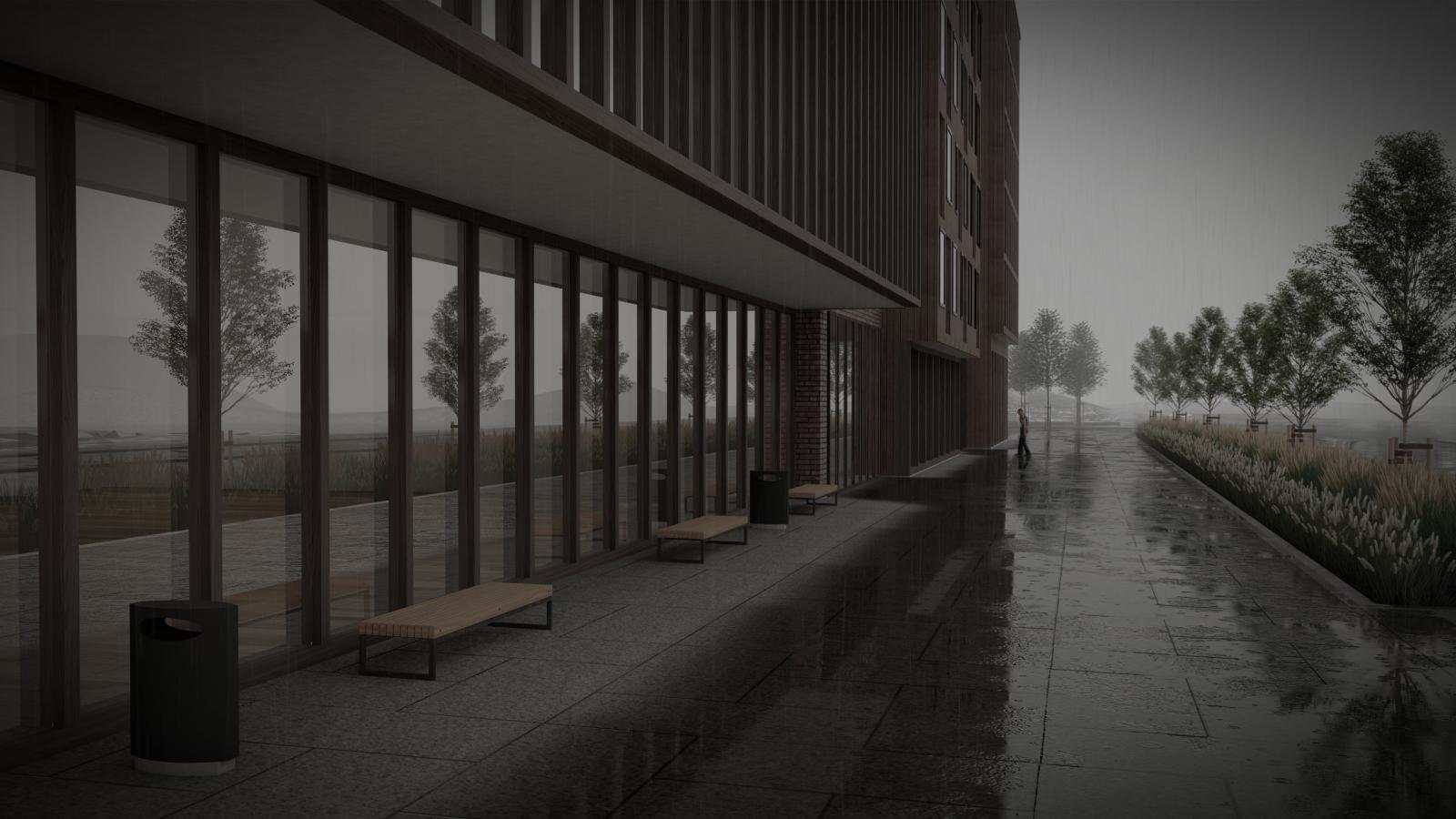 Example of a Sketchup model rendered in Lumion. Project collaboration between Rambøll landscape and DRMA architects.