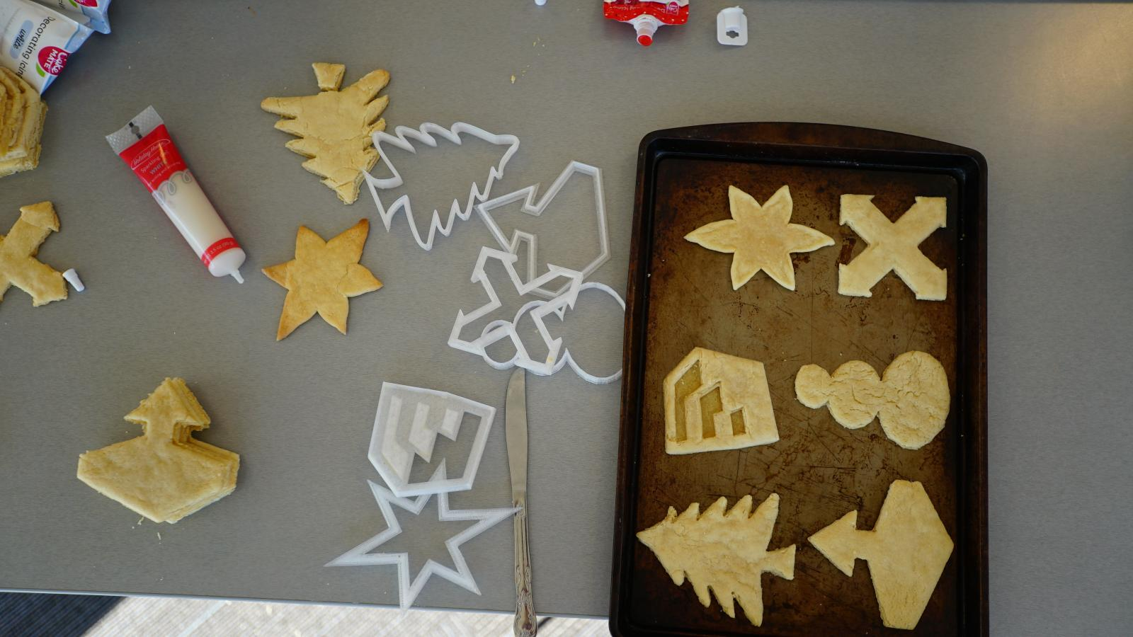 SketchUp cookies ready for frosting