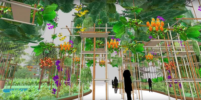 Exhibit design in SketchUp: a look at the Philadelphia Flower Show
