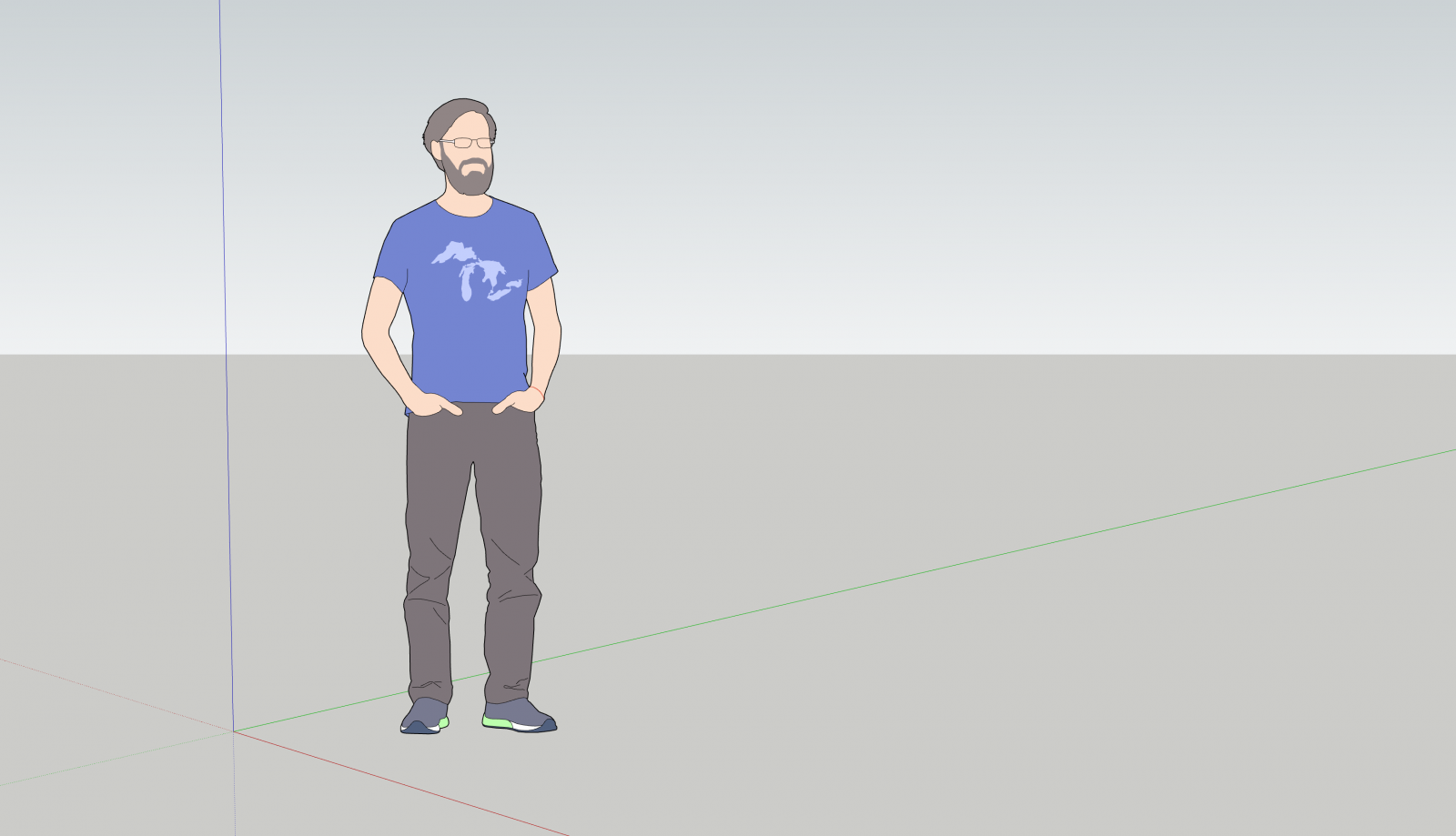 Say hello to Marc, our SketchUp Pro 2019 Scale Figure.