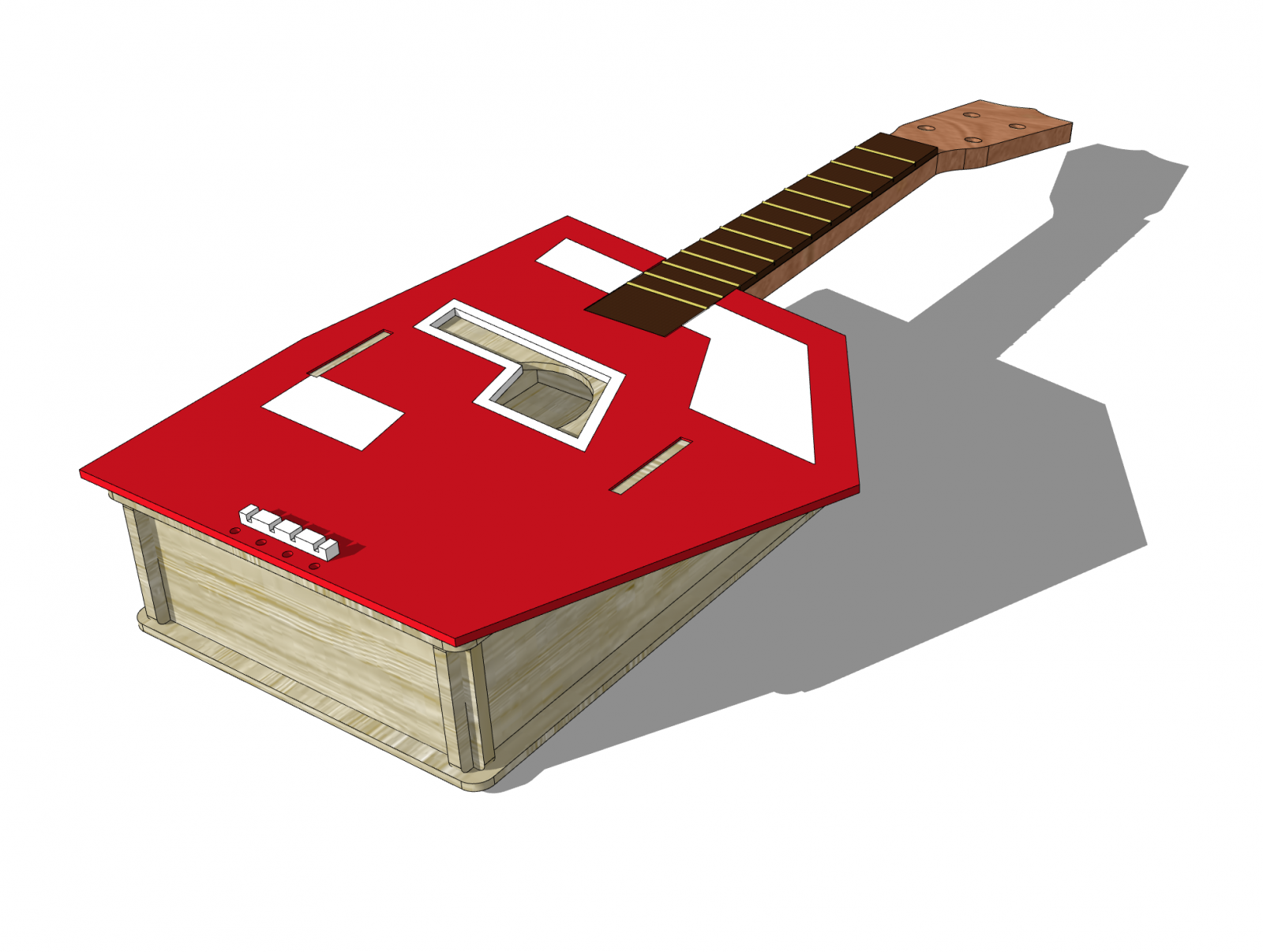 Woodworking Ukulele done in SketchUp