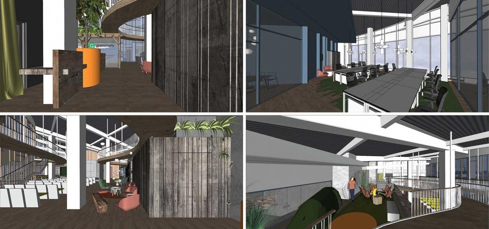 SketchUp models for commercial interior design