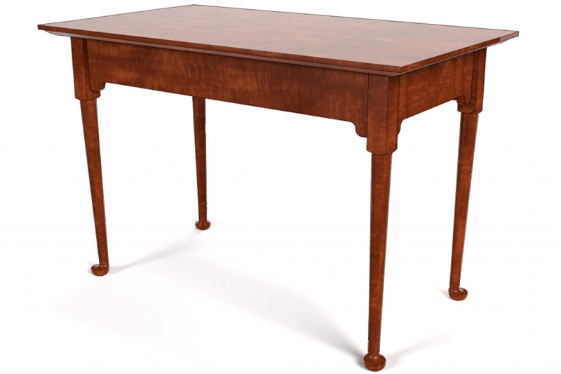 SketchUp model of a Queen Anne-style table